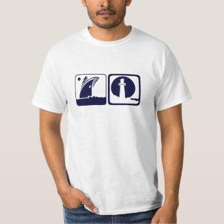 Schildkröterückseite - Schiff u. Leuchtturm in der T-Shirt