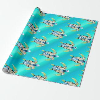 Schildkrötetürkis aquamarin geschenkpapier