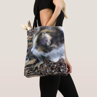 Schildpatt-Kätzchen-aufpassende Wanzen, Tasche