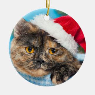 Schildpatt-Katze Schnurren-fect Ferienzeit Keramik Ornament
