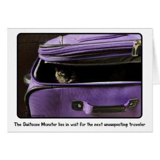 Schildpatt-Katzen-Koffer-Monster Karte