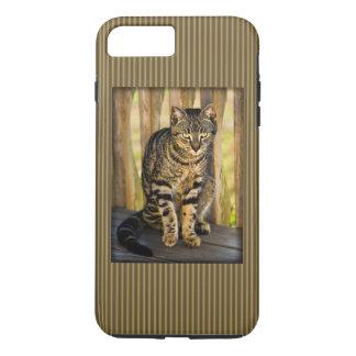 Schildpatt-Katzen-Porträt, Nahaufnahme-Tier-Foto iPhone 8 Plus/7 Plus Hülle