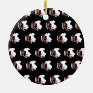 Schildpatt-Meerschweinchen-Muster, Rundes Keramik Ornament