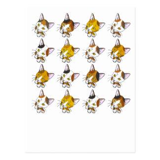 Schildpatte, Tabbykatzen (三毛猫) Postkarte