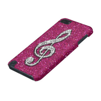Schillernde funkelnd Diamant-Musik-Druckanmerkung iPod Touch 5G Hülle