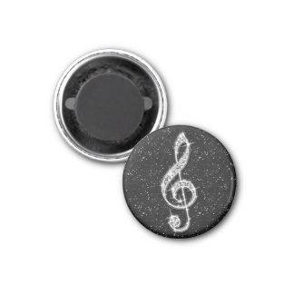 Schillernde funkelnd Diamant-Musik-Druckanmerkung Runder Magnet 3,2 Cm