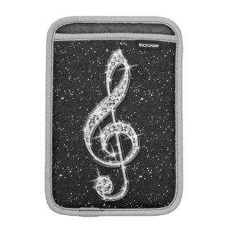 Schillernde funkelnd Diamant-Musik-Druckanmerkung Sleeve Für iPad Mini