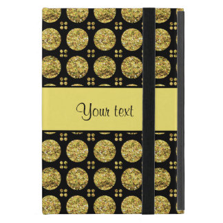 Schillernde funkelnd gelbe Glitter-Knöpfe iPad Mini Hülle