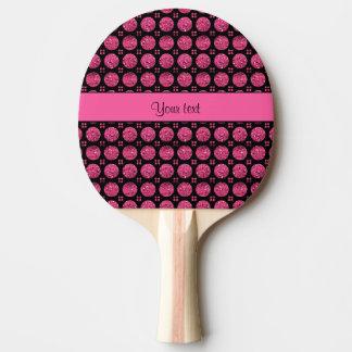 Schillernde funkelnd heißes Rosa-Glitter-Knöpfe Tischtennis Schläger