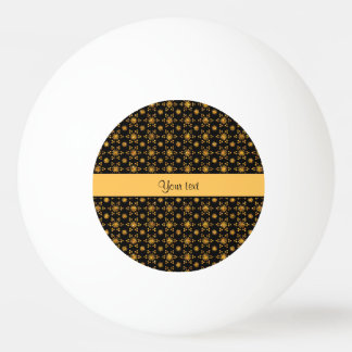 Schillernde funkelnd orange Glitter-Sterne Ping-Pong Ball