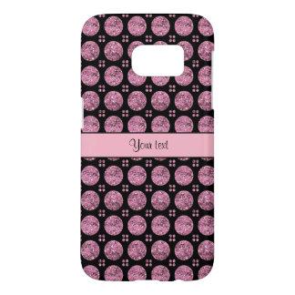 Schillernde funkelnd rosa Glitter-Knöpfe