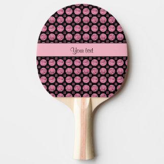 Schillernde funkelnd rosa Glitter-Knöpfe Tischtennis Schläger