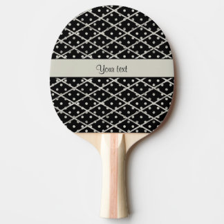 Schillernde funkelnd silberne Glitter-Polka-Punkte Tischtennis Schläger