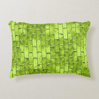 Schillernde grüne Ziegelsteine Dekokissen