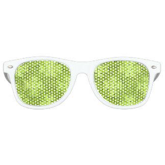 Schillernde grüne Ziegelsteine Sonnenbrille