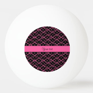 Schillernde heißes Rosa-Glitter-Polka-Punkte u. Tischtennis Ball
