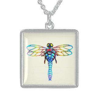 schillernde mehrfarbige Libelle Sterling Silberkette