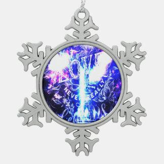 Schillernde Pariser Träume von den die Liebe Schneeflocken Zinn-Ornament