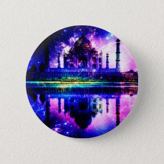 Schillernde Taj Mahal Träume Runder Button 5,1 Cm