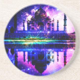 Schillernde Taj Mahal Träume Sandstein Untersetzer