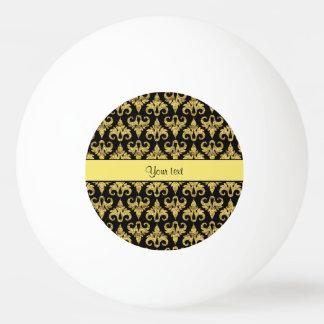 Schillernder funkelnd gelber Glitter-Damast Ping-Pong Ball