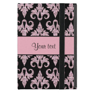 Schillernder funkelnd rosa Glitter-Damast iPad Mini Etuis