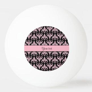 Schillernder funkelnd rosa Glitter-Damast Ping-Pong Ball