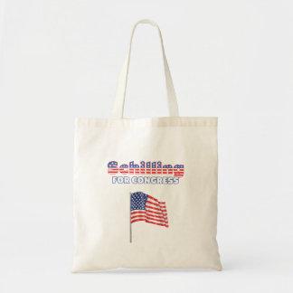 Schilling für Kongress-patriotische amerikanische  Tragetaschen