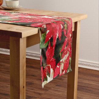 Schimmer-Überraschungs-Poinsettias Kurzer Tischläufer