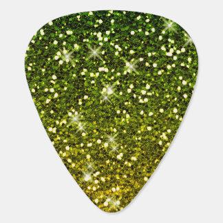 Schimmernde dunkelgrüne GoldGlitter Plektrum