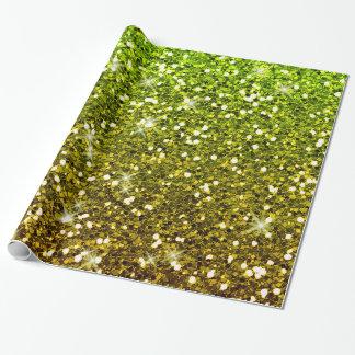 Schimmernde hellgrüne GoldGlitter Geschenkpapier