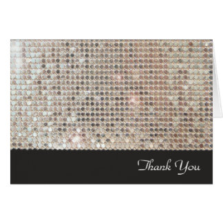 Schimmernde Paillette danken Ihnen Karte