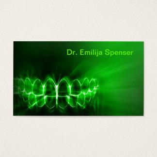 Schimmernde Zahn-Lächeln-Zahnpflege-Green Card Visitenkarten