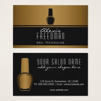 Schimmernder Gold-und Holzkohlen-schwarzer Visitenkarte