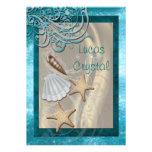 Schimmernder Seashell-aquamarine Individuelle Einladung