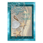 Schimmernder Seashell-aquamarine 12,7 X 17,8 Cm Einladungskarte