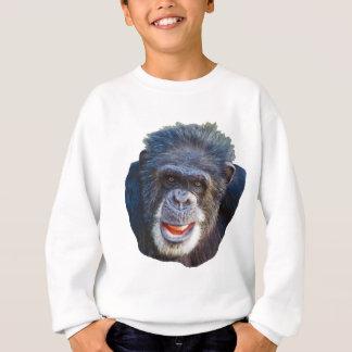 Schimpanse-Bild Sweatshirt