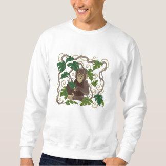 Schimpanse-Dschungel-Baby Besticktes Sweatshirt