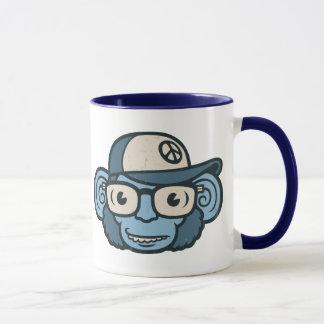 Schimpanse im Blau Tasse