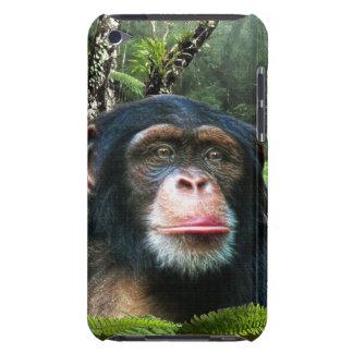 Schimpanse-Menschenaffe-Tier-Tiertelefon-Kasten Barely There iPod Hülle