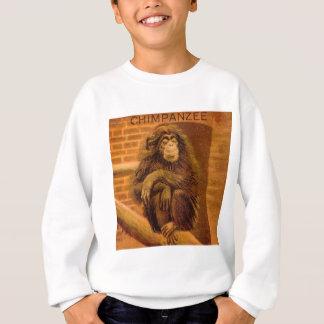 Schimpanse-Vintage magische Laternen-Dia 1890s Sweatshirt
