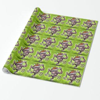 Schimpanse-Weihnachten Geschenkpapier