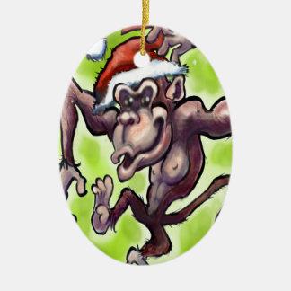 Schimpanse-Weihnachten Keramik Ornament