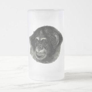 Schimpanseebene Mattglas Bierglas