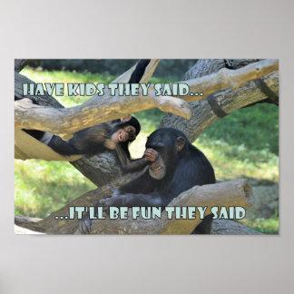 Schimpansen sind nicht zu uns so unterschiedlich poster
