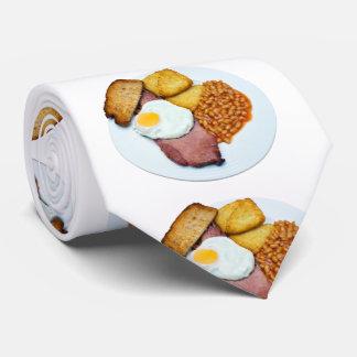 Schinken-Ei und Bohnen-Krawatte Krawatte