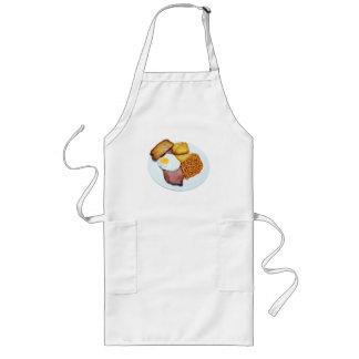 Schinken-Ei und Bohnen-Küchen-Schürze Lange Schürze
