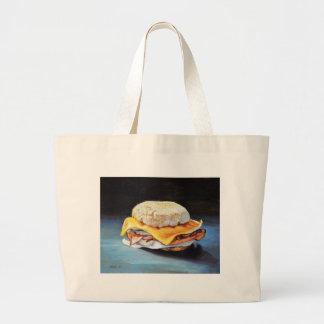 Schinken-, Ei-und Käse-englisches Muffin Jumbo Stoffbeutel
