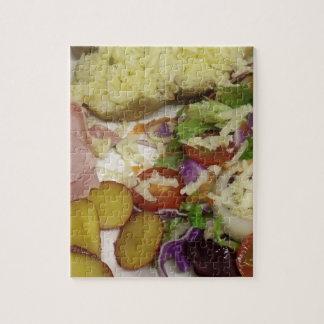 Schinken-Salat und Kleiden Puzzle