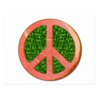 Schinken-und Erbsen-Friedenssymbol Postkarte